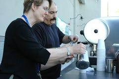 Fabricantes de café del café express. Fotos de archivo libres de regalías
