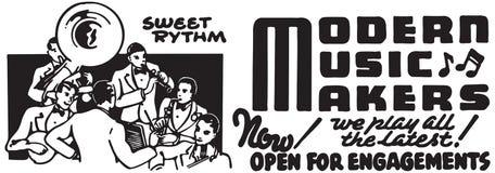Fabricantes de la música moderna stock de ilustración
