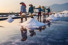 Fabricantes de sal Imagens de Stock Royalty Free