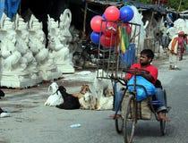 Fabricantes del ídolo de Ganesh Fotografía de archivo