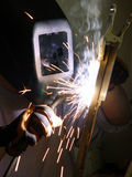Fabricating. Welder at work joining metal Royalty Free Stock Photography