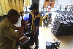 Fabrication d'équipement de pesage image stock