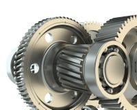 fabrication 3d : fond des vitesses en métal Photos stock