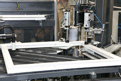 Fabrication d'un hublot Photographie stock