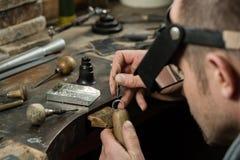 Fabrication de bijoux de métier photos libres de droits