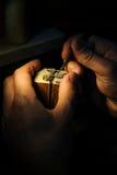 Fabrication de bijoux de métier image libre de droits