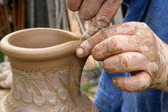Fabrication de céramique Image libre de droits