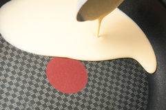 Fabrication de crêpe Photographie stock
