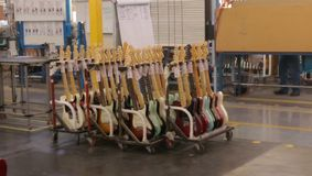 Fabrication de guitare Photo stock