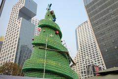 Fabrication de l'arbre de Noël Photographie stock libre de droits