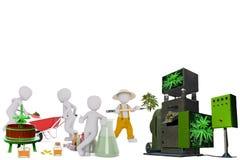 Fabrication de l'huile 3D de CBD images libres de droits