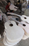 Fabrication de la guitare Image stock