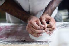 Fabrication de la pâte Image libre de droits