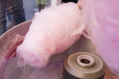 Fabrication de la sucrerie de coton Photos stock