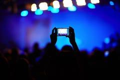 Fabrication de la vidéo du concert photographie stock libre de droits