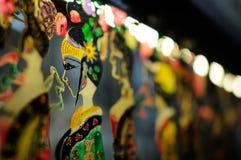 Fabrication de marionnettes chinoise d'ombre photographie stock libre de droits