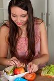 Fabrication de panier-repas images libres de droits