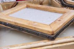 Fabrication de papier traditionnelle Photographie stock libre de droits