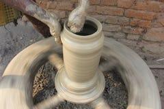 Fabrication de pot Photographie stock