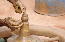 Fabrication de poterie Image libre de droits