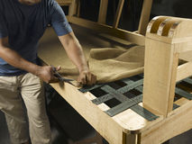 Fabrication de sofa Photographie stock libre de droits