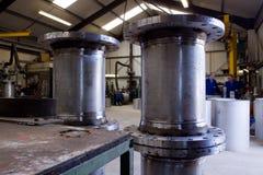 Fabrication de tube en métal Photographie stock libre de droits
