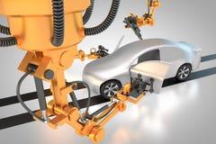 Fabrication de véhicule Image stock