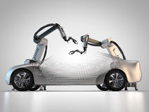 Fabrication de véhicule illustration stock