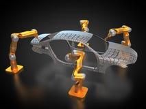 Fabrication de véhicule illustration de vecteur