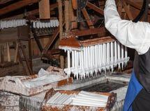 Fabrication des bougies Photographie stock libre de droits