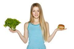 Fabrication des choix d'alimentation saine Images libres de droits