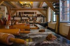 Fabrication des masterclasses de pain d'épice Matériaux préparés, pâte et photo libre de droits