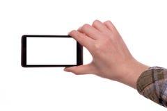 Fabrication des photos avec le téléphone intelligent mobile Photographie stock libre de droits