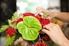Fabrication du bouquet Image libre de droits