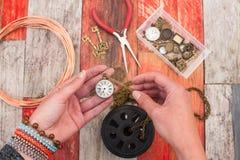 Fabrication du fond de bijoux de métier Photographie stock