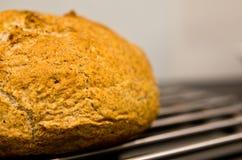 Fabrication du pain rond fait maison image stock