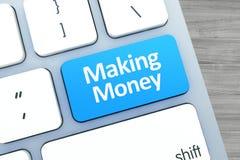 Fabrication du texte d'argent sur un bouton sur le clavier d'ordinateur moderne Principal v Photos stock