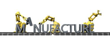 Fabrication of the English word  manufacture Royalty Free Stock Photography