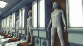 Fabrication humaine de clone illustration libre de droits