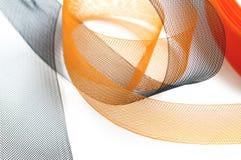 Fabrication noire et orange Photo libre de droits