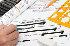 Fabrication schedule Royalty Free Stock Photos