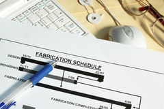 Fabrication schedule Royalty Free Stock Images