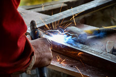 Welding work. Welding work,mans job,industrial Stock Photos