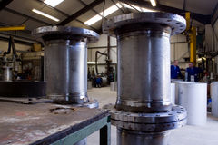 fabriceringmetallrör Royaltyfri Fotografi