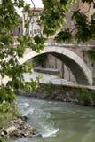 Fabricius Bridge i Rome, Lazio, Italien Arkivfoto