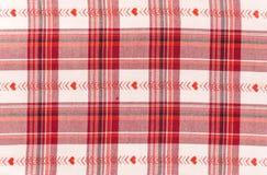 Fabrick Checkered rosso e bianco fotografia stock libera da diritti
