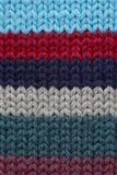 Fabrick hecho punto multicolor Imagen de archivo libre de regalías