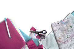 Fabrics and accessories for tailoring Royalty Free Stock Image
