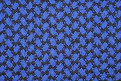 Fabrics. Blue and black gingham tablecloth pattern Stock Photos