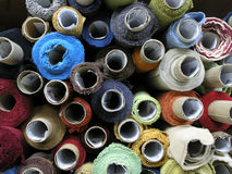Fabrics bolt. A many upholstery fabrics bolt stock images